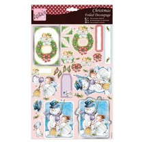 Exclusive 3D Die cut sheets with silver effect, Angels on wreath