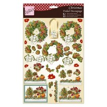 Exclusive 3D Die cut sheets with silver effect, Festive Flowers & Wreath
