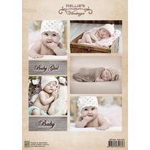 Decoupage sheet vintage, baby girls