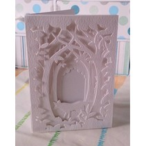 Skæring og prægning stencil til en Shadow Box Card, Skov