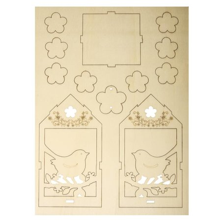 Objekten zum Dekorieren / objects for decorating 2 træ birdhouse, 6x4,5cm