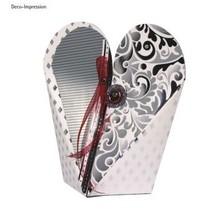 Plantilla, caja de corazón