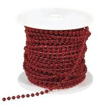 Grandes perlas, 4 mm, de color rojo