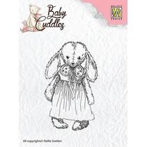 Transparent Stempel, Baby Cuddles Baby, Cuddly girl