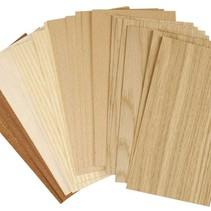 Furnierplatten, Blatt 22x12 cm
