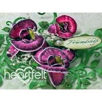 Botanic rubber stamp Orchid avec poinçon correspondant