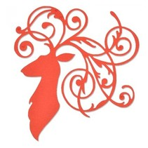 Stansning og prægning skabelon: Elegant Rensdyr