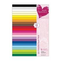 A4 Papierblock, warme Farben