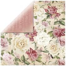 "Scrapbookingpapier designer papir, ""Floral Spray"""