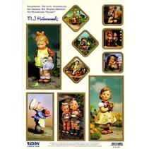 "Stanzbogen: ""M.I. HUMMEL"", 1 Bogen A4 mit verschiedenen Motiven"