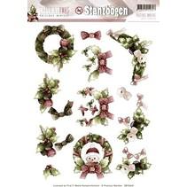 A4 Gestantzte Bilderbogen, Weihnachtsmotive
