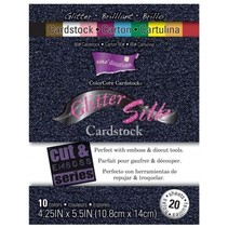 Designerblock, Glitter Silk Cardstock