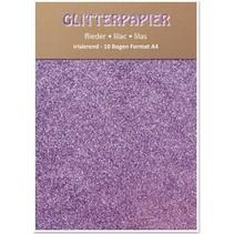 Glitterkarton, irisierend, 10 Bogen, Flieder