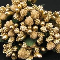 Mini Blumchen, gold, vintage look