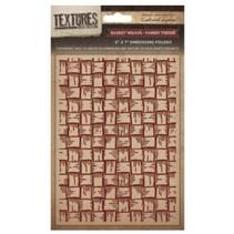 Gofrado carpetas texturas, armadura de cesta