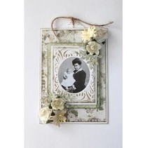 Punching and embossing templates: vintage frame around