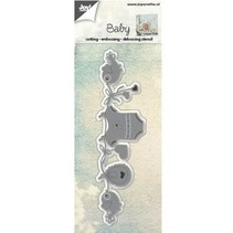 Punching and embossing templates: Baby Clothesline