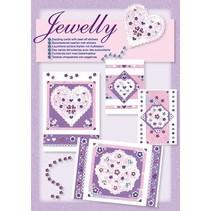 NOUVEAUX; Bastelset, ensemble Jewelly floral, de belles cartes lumineuses avec autocollant