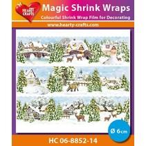 Magic shrink film Winter Village (⌀ 6 cm)