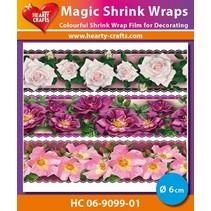 Magic skrumpe film, Roses Luxe (⌀ 6 cm)