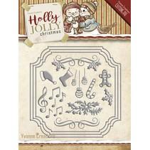 Troquelado y estampado en relieve plantilla: Conjunto de diseños de Navidad