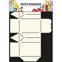 A4 Template: Card type, Geschenkschachtel