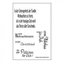 sello transparente: letras en alemán para la Navidad