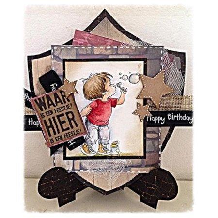 Dutch DooBaDoo Skabelon: korttype, kortholderen