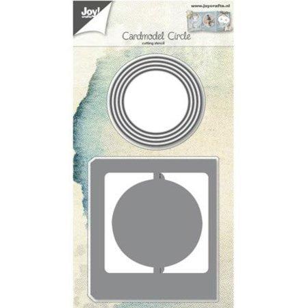Joy!Crafts und JM Creation Punzonado y estampado en relieve plantillas: Modelo de la tarjeta alrededor