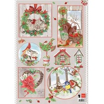 A4 Bilderbogen: Country Christmas