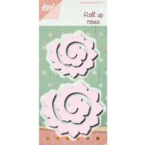 Punching and embossing template: Roll up roses