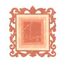 Stempling og prægning mappe SET: 3 rektangler og en dekorativ ramme