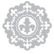 Stempling og prægning mappe SET: 3 Runde dekorativ ramme