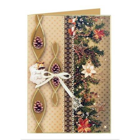 DESIGNER BLÖCKE  / DESIGNER PAPER Las guirnaldas de papel de tarjetas de Navidad