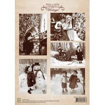 A4 sheet Christmas vintage winter pleasure