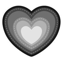 Stanz- und Prägeschablone: Herz Basic
