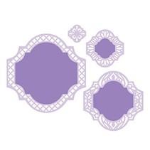 Stansning og prægning skabelon: dekorativ ramme