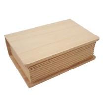 Holzdose em forma de livro