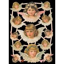 Glanzbilder, 13 Engel Motive