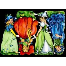 Glanzbilder, Blumenkinder