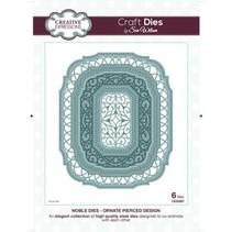 Stansning og prægning skabelon: dekorativ ramme Oval