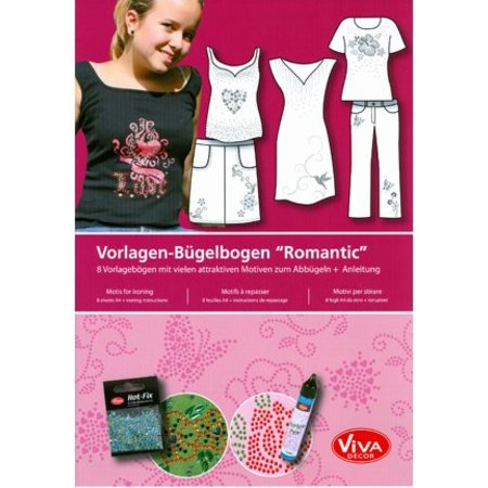 "BASTELZUBEHÖR / CRAFT ACCESSORIES Template Ironing Sheets A4 ""Romantic"""
