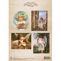 Bilderbogen, Christmas colour vintage Angels