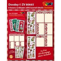 6 Luxus Kartenlayouts mit weihnachtlichen Designs