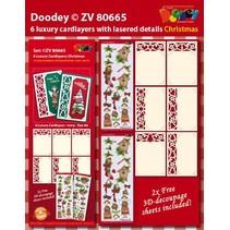 6 layout di carta di lusso con disegni di Natale