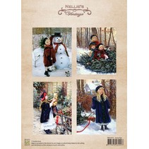 Bilderbogen, Vintage Christmas snow fun