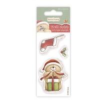timbre Transparent: Ours avec cadeau