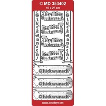 Ziersticker deutsche Text Banners