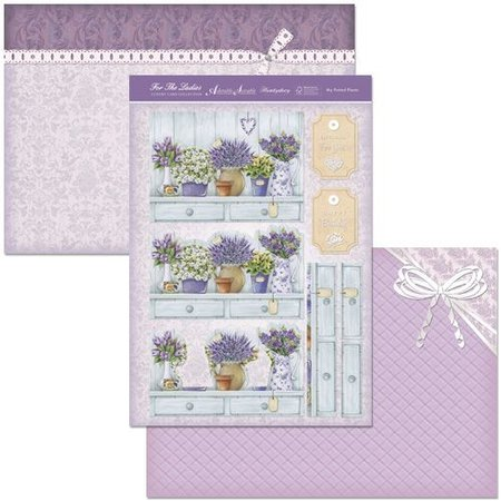 """Exlusiv Artesanía de lujo de diseño de tarjetas Kit """"Mis plantas en macetas"""", (Limited)"""