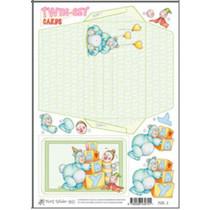 Marij Rahder twin set cards 01 baby